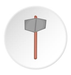 Sledgehammer icon cartoon style vector