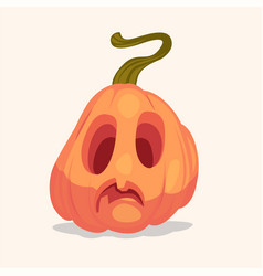 Spooky halloween pumpkin vector