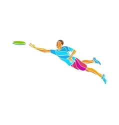Sportsman throwing flying disc Ultimate game vector image