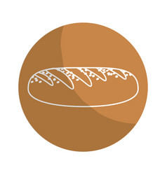 Sticker delicious fresh bakery bread food vector