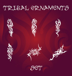 tribal design elements and tattoo ornaments set vector image
