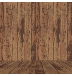wood wall and floor vector image vector image