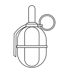 Hand paintball grenade icon outline style vector