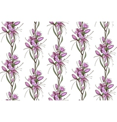 Lily Flowers Seamless Pattern vector image