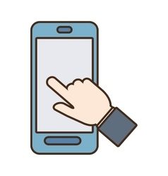 Smartphone hand touch payment digital vector