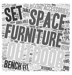 Outdoor furniture text background wordcloud vector