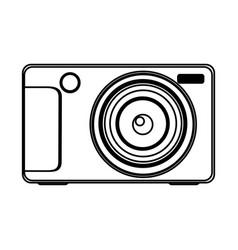 figure technologic digital camera icon vector image
