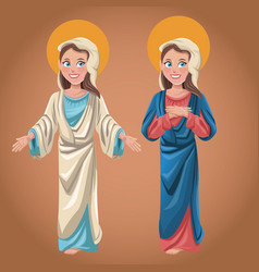Virgin mary spiritual prayer faith vector