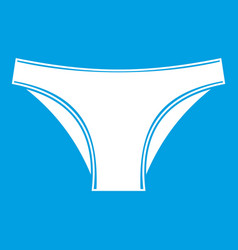 Female cotton panties icon white vector