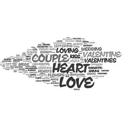 Loving word cloud concept vector