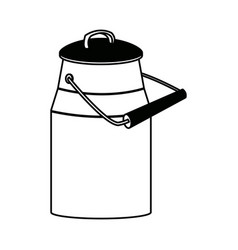 Metal milk container traditional can for beverage vector