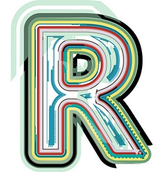 Abstract colorful letter r vector