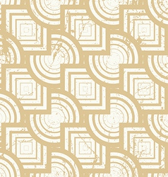 Vintage geometric seamless background old repeat vector