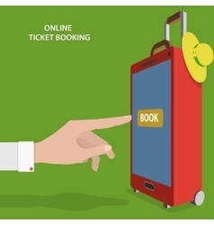 Online ticket booking flat concept vector