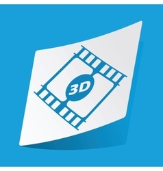 3d movie sticker vector