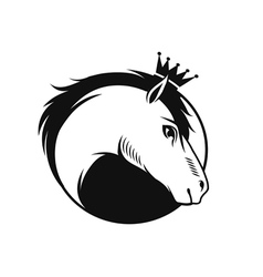 horse with a crown vector image