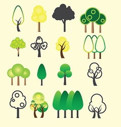 0108 tree icon vector