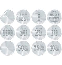 silver award or icon vector image