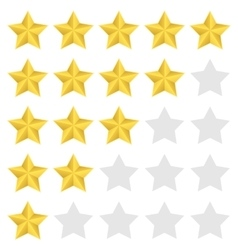 Rating star set vector image