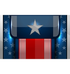 american flag backgrounds design vector image