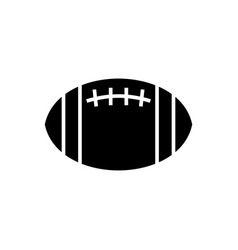 american football icon black vector image vector image