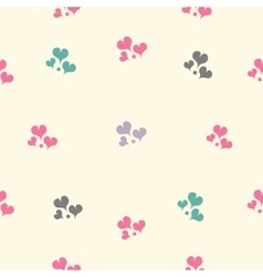 Beautiful seamless pattern with hearts vector image vector image