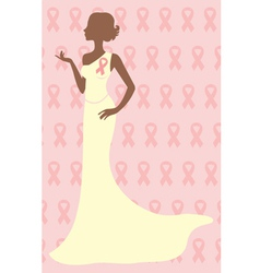 Breast cancer awareness beauty vector image vector image