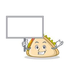 Bring board sandwich character cartoon style vector
