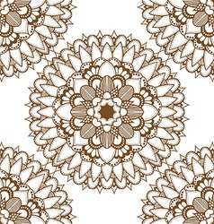 Brown mandala patterned background vector