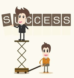 Businessman success assembly vector image vector image