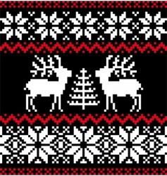 Christmas Nordic pattern vector image