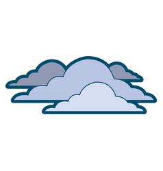 Clouds sky climate overcast day scene vector