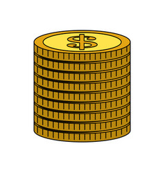 Coin money icon image vector