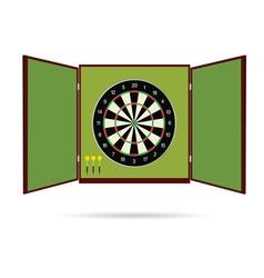 Dartboard icon with arrow vector