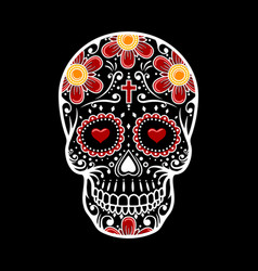 Sugar Skull Girl In Flower Crown Royalty Free Vector Image