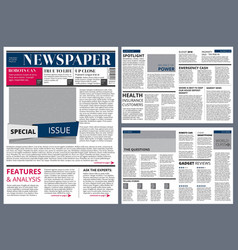 design template of newspaper vector image vector image