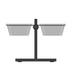 Dog bowl stand icon isolated vector