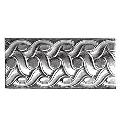 Double twist margin vintage engraving vector