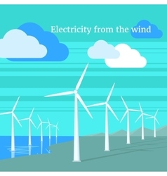 Electricity from wind design flat vector