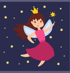 fairy princess adorable character imagination vector image