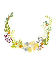 foral flowers wreath vector image