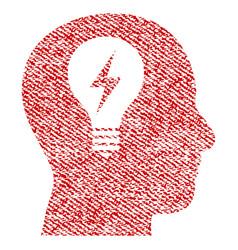 Head bulb fabric textured icon vector