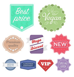 label set icons in cartoon style big collection vector image vector image