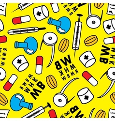 Medicine Abstract seamless pattern vector image