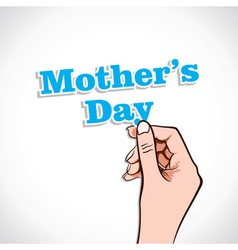 Mothers day word in hand vector
