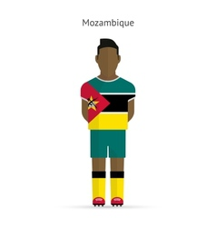 Mozambique football player soccer uniform vector