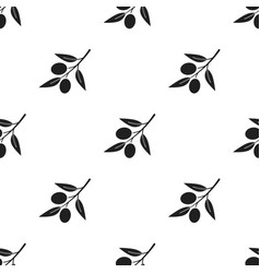 Olive icon black singe vegetables icon from the vector