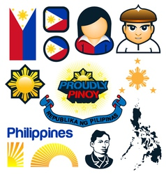 Philippines Symbols vector image vector image