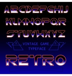 Retro font typeface in futuristic style vector image