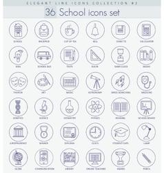 school or university Outline icon set vector image